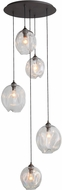 Avenue Lighting HF8145-DBZ-CL Sonoma Ave. Contemporary Dark Bronze Multi Drop Lighting