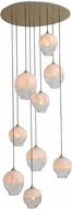 Avenue Lighting HF8149-BB-WH Sonoma Ave. Contemporary Brushed Brass Multi Drop Ceiling Lighting