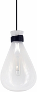 Avenue Lighting HF8188-WHT Del Mar Contemporary White / Clear 6  Mini Ceiling Light Pendant
