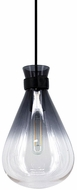 Avenue Lighting HF8189-BLK Del Mar Contemporary Smoke / Clear 8  Mini Ceiling Pendant Light