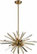 Avenue Lighting HF8201-AB Palisades Ave. Antique Brass With Champagne Glass 24  Ceiling Pendant Light