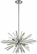 Avenue Lighting HF8201-CH Palisades Ave. Chrome With Clear Glass 24  Drop Ceiling Light Fixture