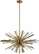 Avenue Lighting HF8202-AB Palisades Ave. Antique Brass With Champagne Glass 31.5 Drop Lighting Fixture