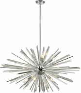 Avenue Lighting HF8203-CH Palisades Ave. Chrome With Clear Glass 39.375 Lighting Pendant