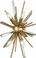 Avenue Lighting HF8204-AB Palisades Ave. Antique Brass With Champagne Glass Wall Light Sconce