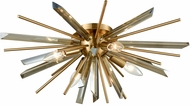 Avenue Lighting HF8205-AB Palisades Ave. Antique Brass With Champagne Glass Ceiling Light Fixture