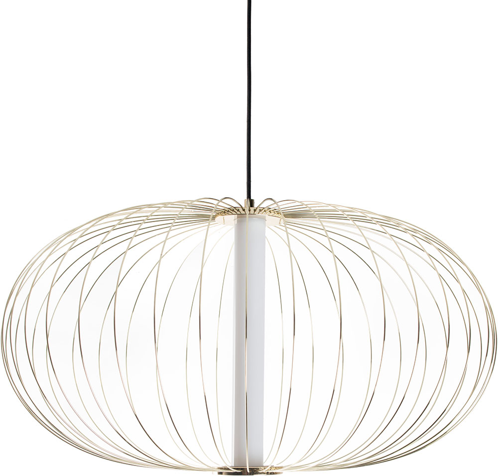 Avenue Lighting Hf8212 Gl Delano Modern Gold Led Hanging Pendant