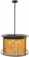 Avenue Lighting HF9003-DBZ Soho Contemporary Dark Bronze / Citrine Stones Drum Hanging Lamp