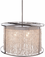 Avenue Lighting HF9003-SLV Soho Modern Polished Nickel Silver Finish With Moon Rock Gem Nuggets Drum Hanging Light