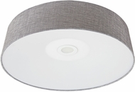 Avenue Lighting HF9202-GRY Cermack St. Contemporary Grey Linen LED 24  Flush Mount Lighting