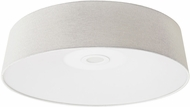 Avenue Lighting HF9202-IVY Cermack St. Modern Ivory Linen LED 24  Overhead Lighting