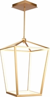 Avenue Lighting HF9401-GLD Park Ave. Modern Gold LED 17  Foyer Light Fixture