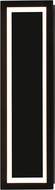 Avenue Lighting HF9404-BK Park Ave. Contemporary Black LED 17  Lighting Wall Sconce