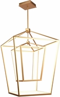 Avenue Lighting HF9412-GLD Park Ave. Modern Gold LED Foyer Lighting