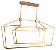 Avenue Lighting HF9413-GLD Park Ave. Modern Gold LED Kitchen Island Lighting