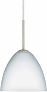 Besa 1BT-757207-LED-SN Sasha Modern Satin Nickel LED Mini Pendant Lamp