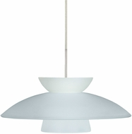 Besa 1JT-451325-LED-SN Trilo 15 Contemporary Satin Nickel LED Pendant Hanging Light