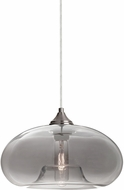Besa 1JT-BANASM-SN Bana Modern Satin Nickel Smoke Mini Pendant Light