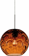 Besa 1JT-BOMYAM-SN Bombay Modern Satin Nickel Amber Mini Pendant Light