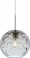 Besa 1JT-BOMYCL-SN Bombay Modern Satin Nickel Clear Mini Pendant Lamp