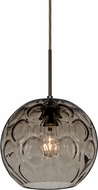 Besa 1JT-BOMYSM-BR Bombay Contemporary Bronze Smoke Mini Hanging Lamp