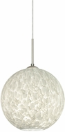 Besa 1JT-COCO1019-LED-SN Coco Contemporary Satin Nickel Carrera LED 10  Mini Lighting Pendant