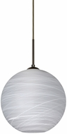 Besa 1JT-COCO1060-LED-BR Coco Modern Bronze Cocoon LED 10  Mini Pendant Lamp