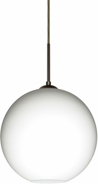Besa 1JT-COCO1207-LED-BR Coco Modern Bronze Opal Matte LED 12  Mini Hanging Light