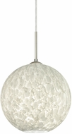 Besa 1JT-COCO1219-LED-SN Coco Modern Satin Nickel Carrera LED 12  Mini Pendant Lighting Fixture