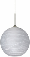 Besa 1JT-COCO1260-LED-SN Coco Modern Satin Nickel Cocoon LED 12  Mini Hanging Pendant Light