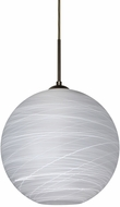 Besa 1JT-COCO1460-LED-BR Coco Modern Bronze Cocoon LED Drop Ceiling Lighting