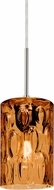 Besa 1JT-CRUSAM-SN Cruise Modern Satin Nickel Amber Mini Pendant Lighting Fixture