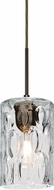Besa 1JT-CRUSCL-BR Cruise Contemporary Bronze Clear Mini Hanging Pendant Lighting