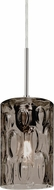 Besa 1JT-CRUSSM-SN Cruise Modern Satin Nickel Smoke Mini Hanging Light Fixture