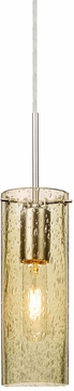 Besa 1JT-JUNI10GD-SN Juni Modern Satin Nickel Gold Bubble 10  Mini Drop Lighting Fixture