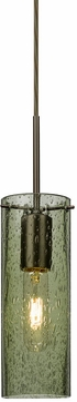 Besa 1JT-JUNI10MS-BR Juni Contemporary Bronze Moss Bubble 10  Mini Lighting Pendant