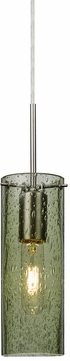 Besa 1JT-JUNI10MS-SN Juni Modern Satin Nickel Moss Bubble 10  Mini Pendant Lamp