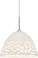 Besa 1JT-KIEVWH-LED-SN Kiev Contemporary Satin Nickel LED Pendant Light Fixture