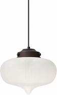 Besa 1JT-MIRAFR-BR Mira Modern Bronze Frost Mini Drop Lighting Fixture