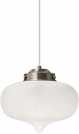 Besa 1JT-MIRAFR-SN Mira Contemporary Satin Nickel Frost Mini Pendant Lighting