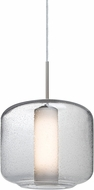 Besa 1JT-NILES10CO-SN Niles Contemporary Satin Nickel Mini Pendant Hanging Light