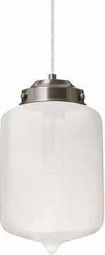 Besa 1JT-OLINFR-SN Olin Contemporary Satin Nickel Frost Mini Lighting Pendant