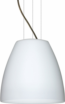 Besa 1KG-BELL1407-LED-BR Bella Contemporary Bronze Opal Matte LED 14  Lighting Pendant