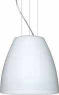 Besa 1KG-BELL1407-LED-SN Bella Modern Satin Nickel Opal Matte LED 14  Pendant Lamp