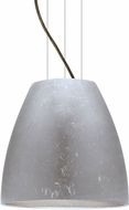 Besa 1KG-BELL14SF-LED-BR Bella Contemporary Bronze Silver Foil LED 14  Hanging Pendant Lighting