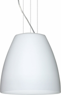 Besa 1KG-BELL1607-LED-SN Bella Modern Satin Nickel Opal Matte LED 16  Hanging Light Fixture