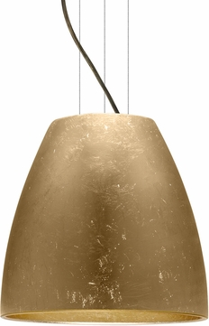 Besa 1KG-BELL16GF-LED-BR Bella Contemporary Bronze Gold Foil LED 16  Ceiling Light Pendant
