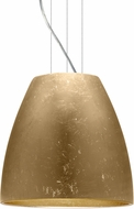 Besa 1KG-BELL16GF-LED-SN Bella Modern Satin Nickel Gold Foil LED 16  Ceiling Pendant Light