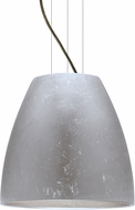 Besa 1KG-BELL16SF-LED-BR Bella Contemporary Bronze Silver Foil LED 16  Drop Ceiling Light Fixture