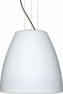 Besa 1KG-BELL2007-LED-BR Bella Contemporary Bronze Opal Matte LED 20  Pendant Lighting